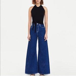 NEW Zara vintage high-waist flare jeans